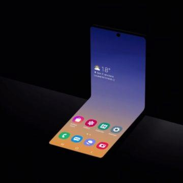 samsung ohebný telefon