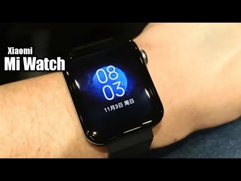 Xiaomi Mi Watch - Hands On Look !!! | MIUI for Watch | Apple Watch 5 copy