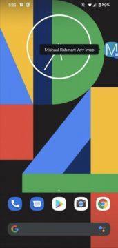 bublinové notifikace v Androidu Mishaal Rahman screen 1