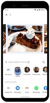 chatování v aplikaci Fotky Google screen 3