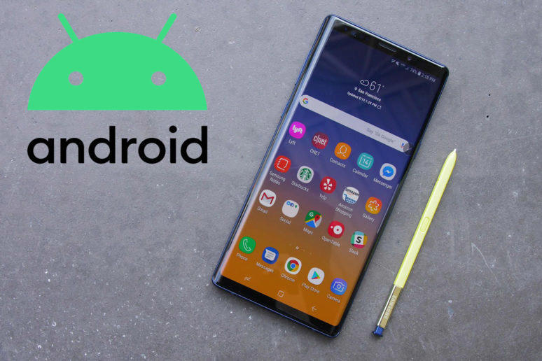 galaxy note 9 aktualizace android