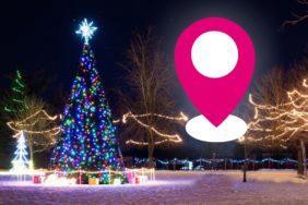 geolokace vánoční stromky T-Mobile