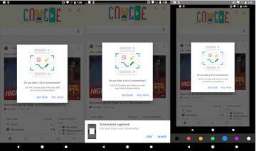 Google Chrome screenshotů