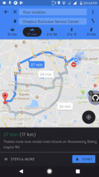 google maps motorcycle mode