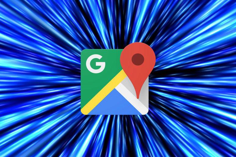 google mapy cestování hyperprostorem star wars