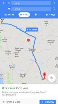 google mapy motocyklový režim