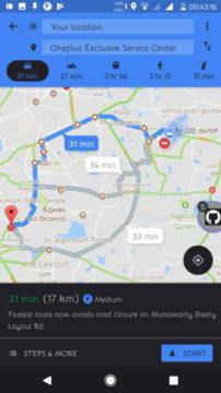 google mapy motorkový režim