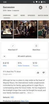 Google Watchlist screenshot 1