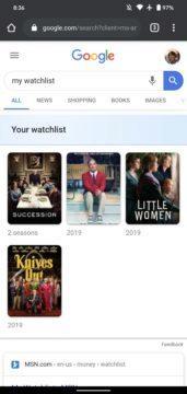 Google Watchlist screenshot 6
