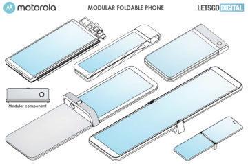 modulární telefon Motorola RAZR patent 1
