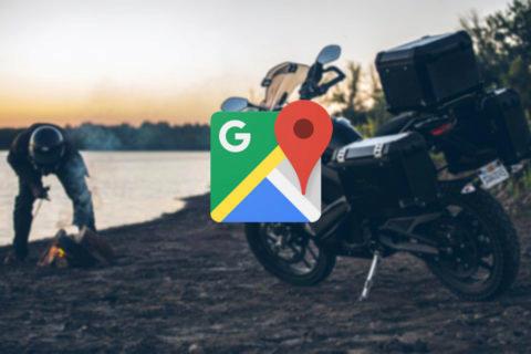 motocyklový mód google mapy