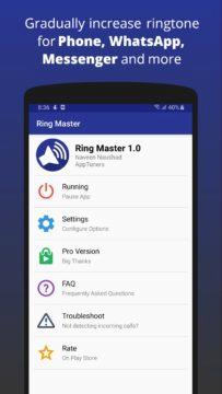 Ring Master - vylaďte si hlasitost vyzvánění