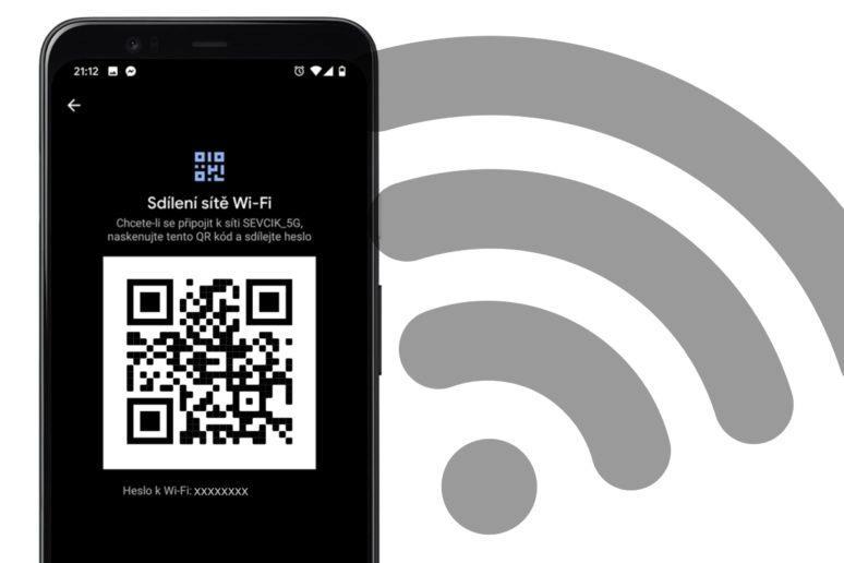 sdílení WiFi přes QR kód