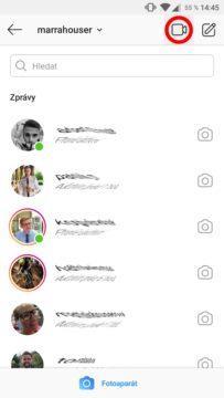 videohovory na Instagramu screen 2