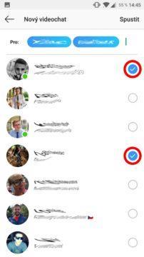 videohovory na Instagramu screen 3