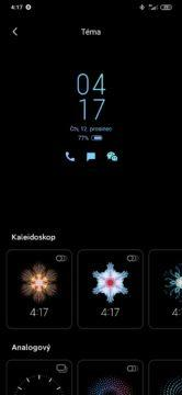 Xiaomi Mi Note 10 ambientní displej nastavení
