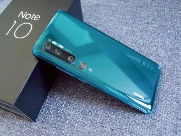 Xiaomi Mi Note 10 záda