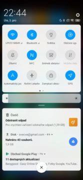 Xiaomi Redmi Note 8T oznamovací oblast