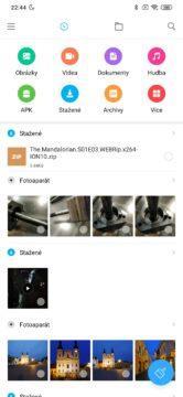 Xiaomi Redmi Note 8T správce souborů