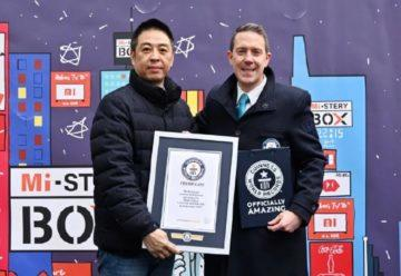 Xiaomi světový rekord plaketa