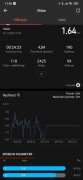 Amazfit app cvičení