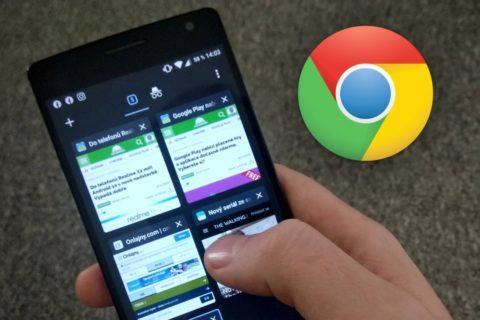 Chrome doporučení zavírání karet
