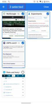 Chrome doporučení zavírání karet screen 2