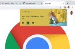 Chrome ovládání médií