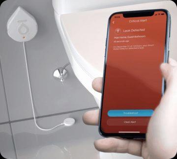 chytrý detektor vody Flo by Moen 6