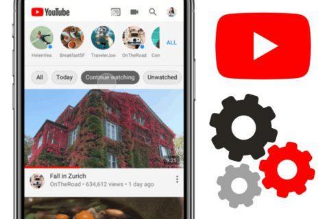 filtry obsahu v YouTube aplikaci