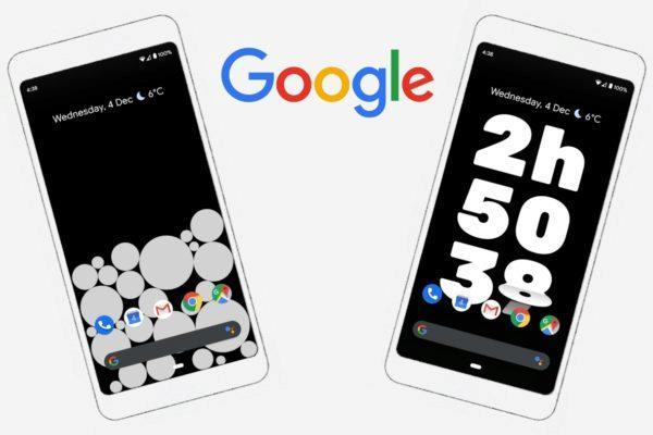 Google Activity Bubbles a Screen Stopwatch