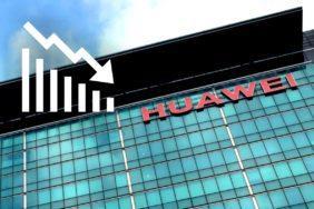 Huawei slabší prodeje