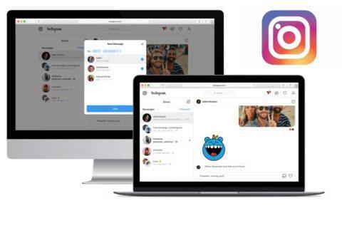 Instagram chat na webu