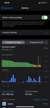 iphone 11 pro výdrž baterie