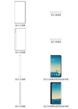 nové ohebné telefony Xiaomi patent 1