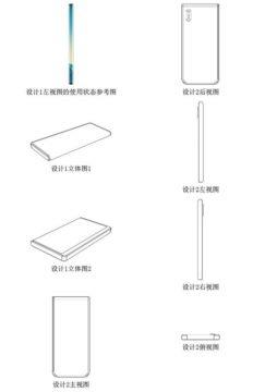 nové ohebné telefony Xiaomi patent 3