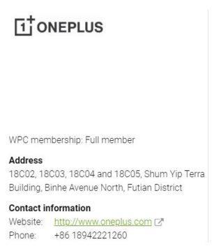 OnePlus bezdrátové nabíjení registrace WPC