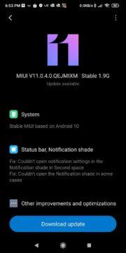 Pocophone F1 MIUI 11 Android 10 screen 1