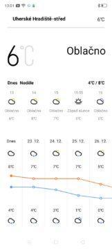 Realme 5 počasí