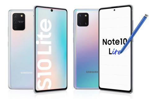 specifikace Galaxy S10 Lite a Note10 Lite
