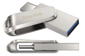 USB-C USB-A Sandisk 1 TB flash disk