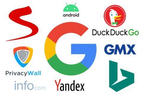 vyhledávače v Androidu