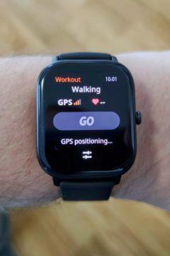 Xiaomi Amazfit GTS začátek cvičení