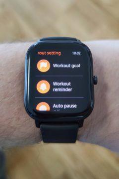 Xiaomi Amazfit GTS workout