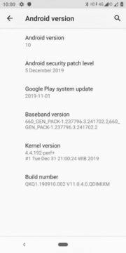 xiaomi mi a2 android 10