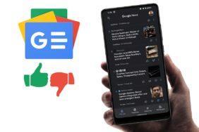 Zprávy Google tmavý režim