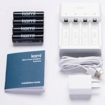 bezdrátová venkovní kamera Kami na baterie prislusenstvi