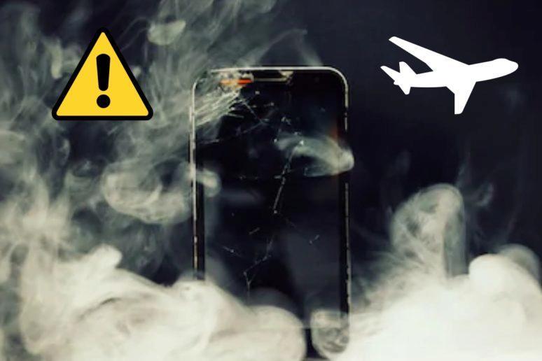 doutnající telefon v letadle