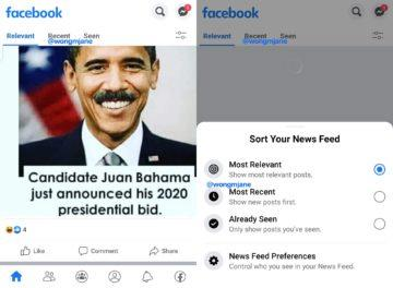 Facebook News Feed karty