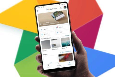 Fotky Google redesign menu